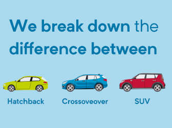 Know the difference between a hatchback, crossover or SUV